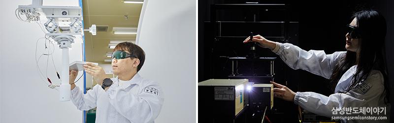LED 품질 인증 테스트를 진행하는 모습