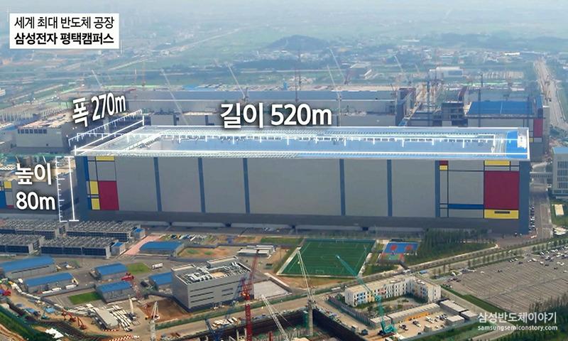 세계 최대 반도체 공장 삼성 전자 평택 캠퍼스의 제원