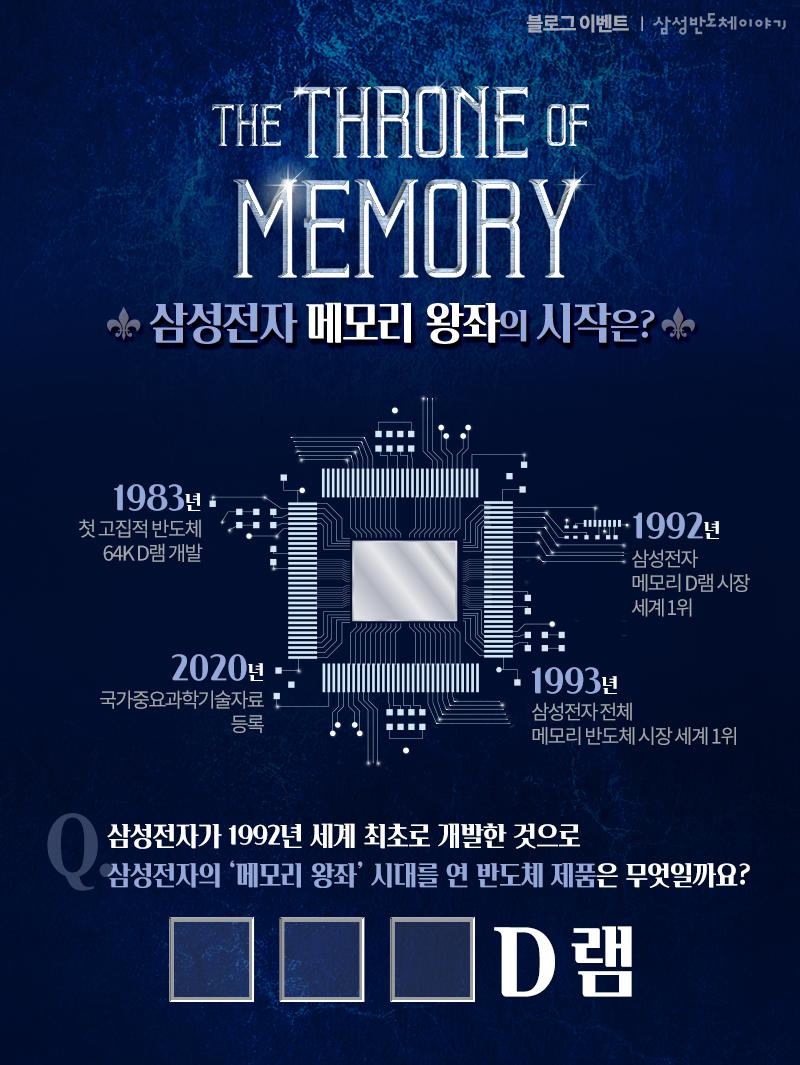 [블로그 이벤트] 삼성전자 메모리 왕좌의 시대, 그 시작은? - 이벤트 안내