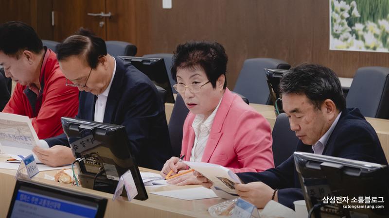 ▲삼성전자∙화성 소통협의회 2019. 10월 정기회의 모습