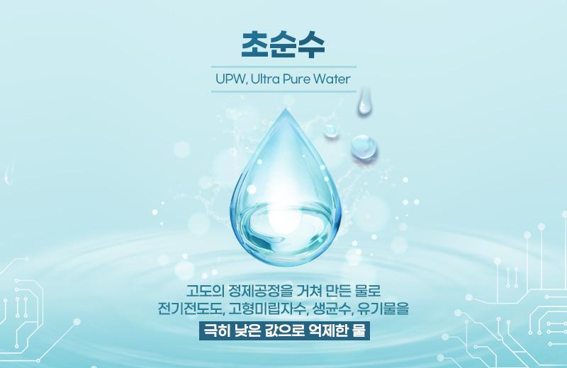 반도체 제조에 사용되는 순수한 물, '초순수'